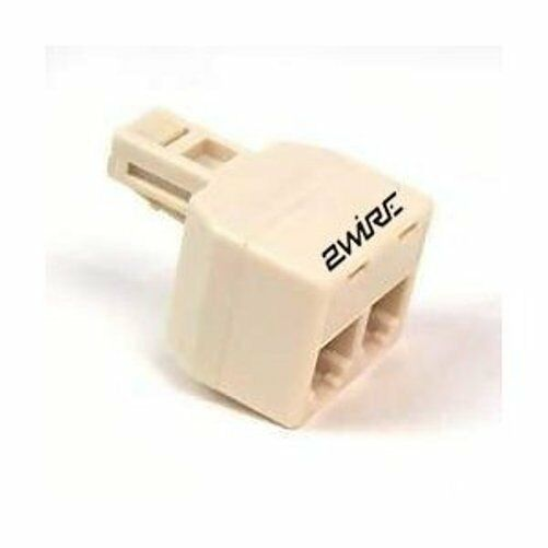 2wire Dual Jack Phone Splitter Adapter