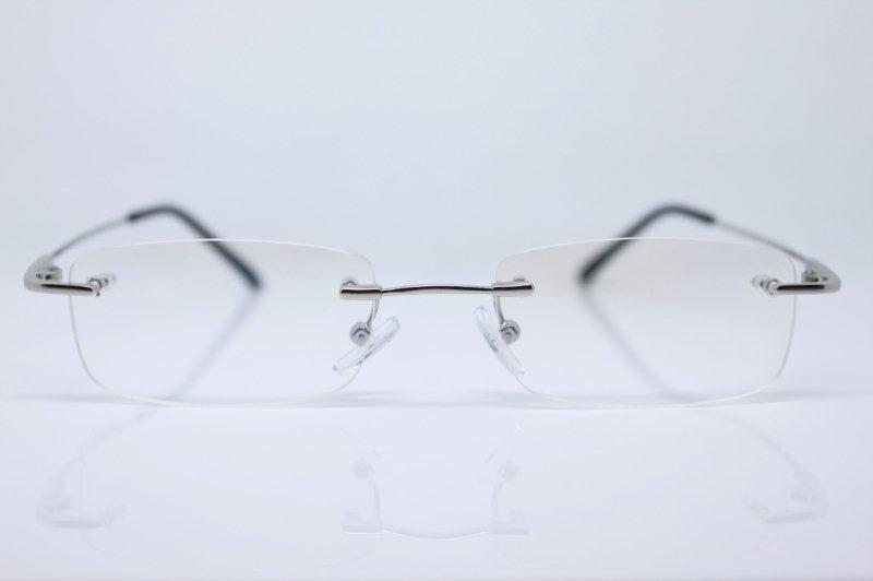 Rimless Glasses With Changeable Arms : Magic arms Rimless glasses frame alloy TITANIUM eBay