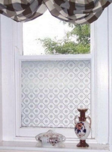 Etched glass effect frost window film victorian styles ebay for Decorative window film stained glass victorian