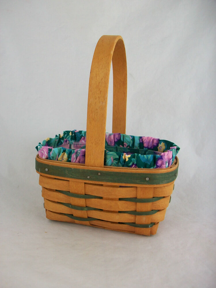 Longaberger 1993 Small Easter Basket Combo Ebay