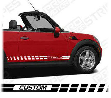 Mini Cooper Rocker Panel Side Strobe Stripes Styles Avl Ebay