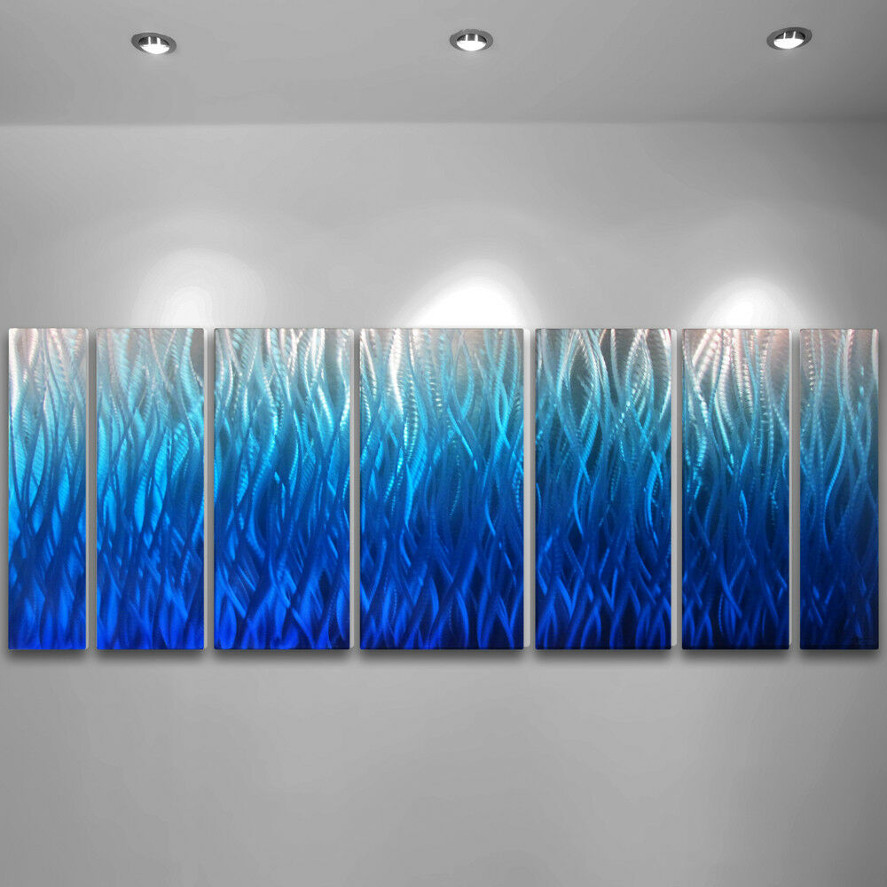 Wall Art Metal Modern : Modern abstract metal wall art painting sculpture decor