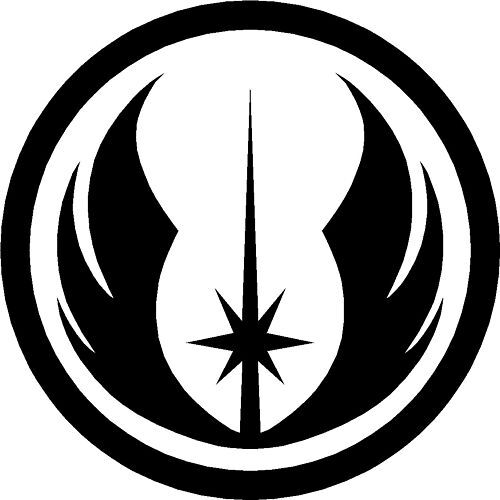 2x Star Wars Logo Jedi Order Vinyl Decal Sticker