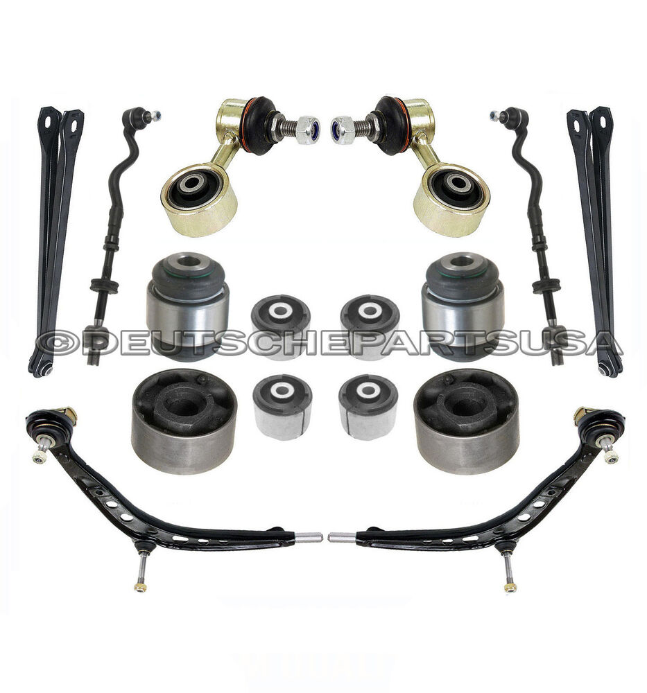 FRONT REAR CONTROL ARM BALL JOINT TIE ROD SWAY BAR KIT For