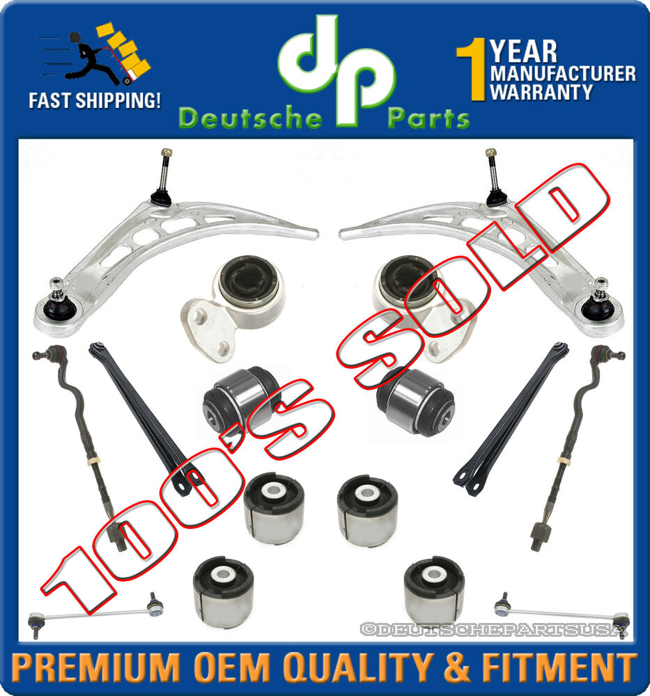 Front Lower Control Arms Kits Bushing Sway Bar Link Tie Rod for BMW E46 3 Series