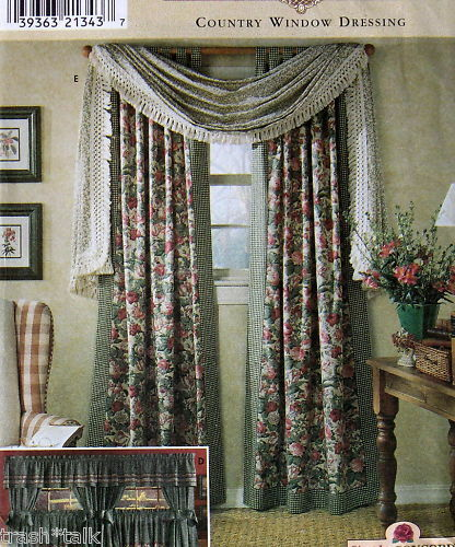 Country Window Dressing Curtain By Concord Cafe Pattern