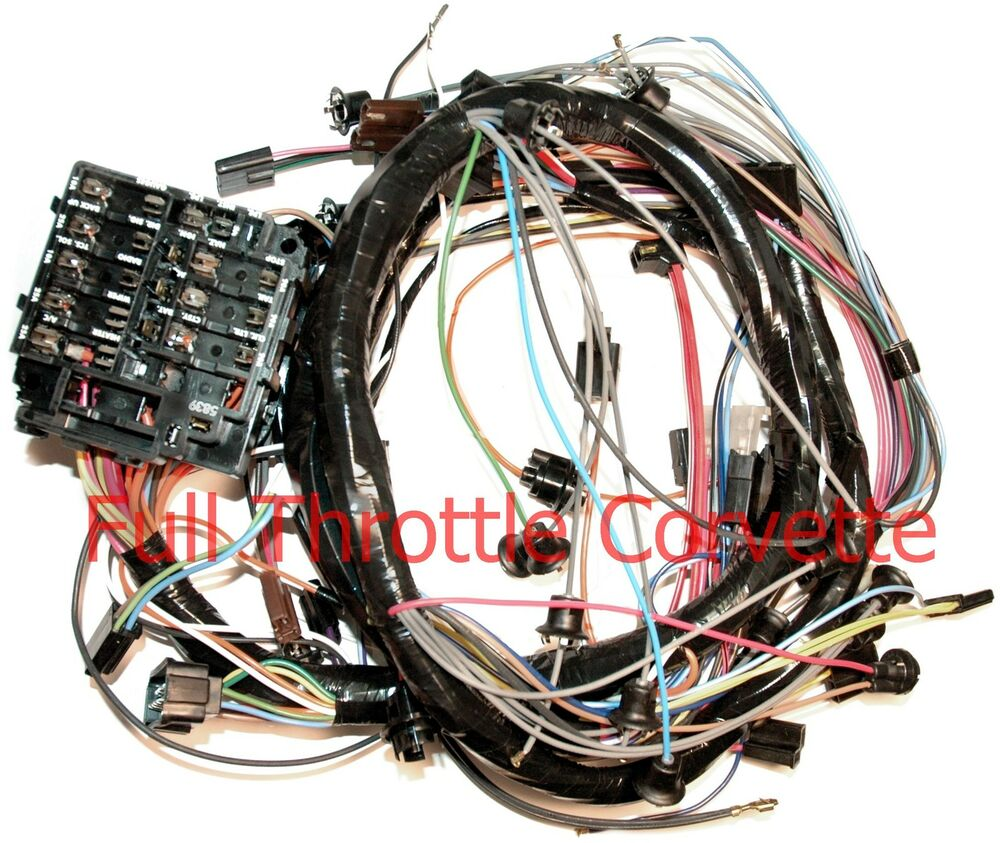 Corvette Dash Wiring Harness Without Backup Lights 1964 2988862