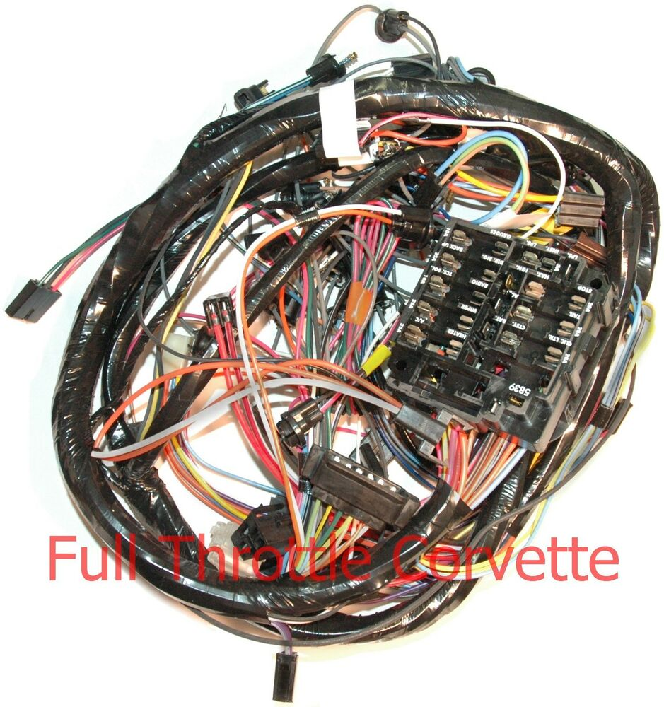 1972 corvette dash wiring harness without air conditioning new ebay. Black Bedroom Furniture Sets. Home Design Ideas