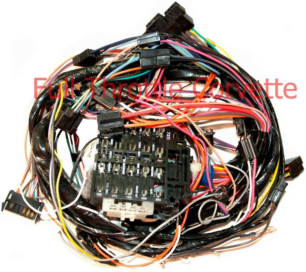 1977 Early Corvette Dash Wiring Harness For Vettes With