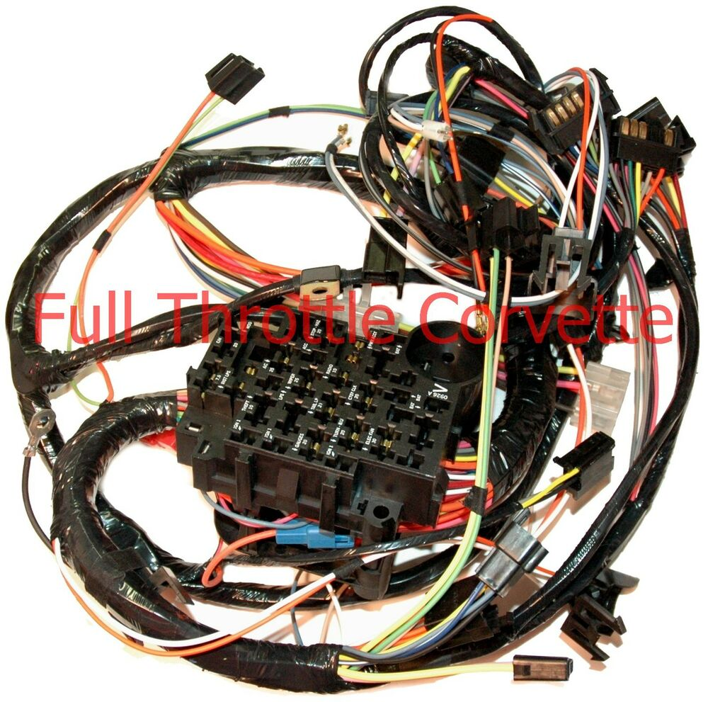 1979 Corvette Dash Wiring Harness Without Power Windows