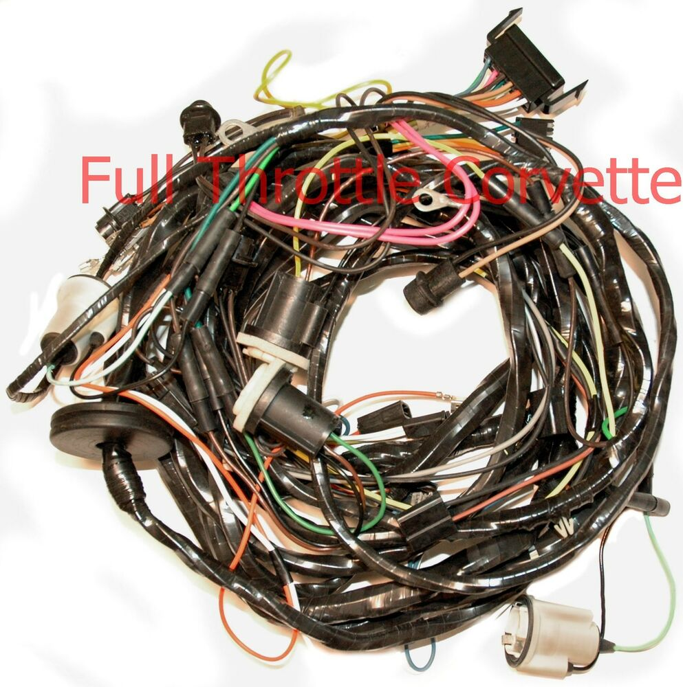 1975 corvette rear body wiring harness with seatbelt ... 1975 corvette wiring harness
