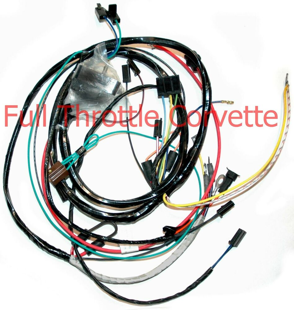 1970 corvette engine wiring harness manual trans new ebay