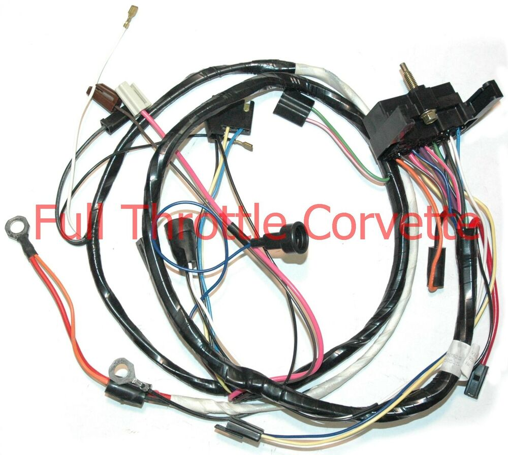 1976 corvette engine wiring harness manual transmission | ebay 1976 corvette wiring harness