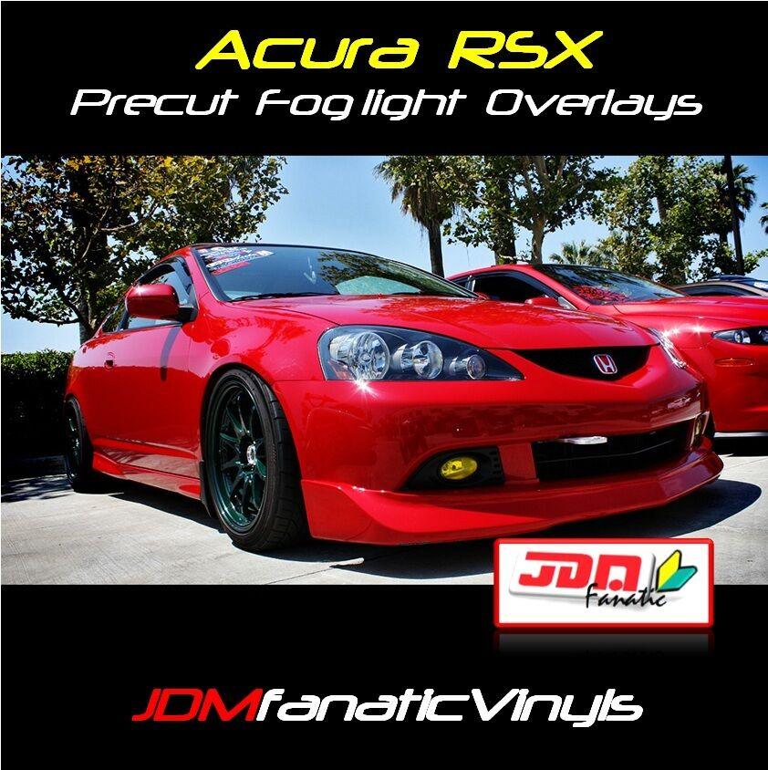 2005-2006 Acura RSX DC DC5 Fog Light JDM Yellow Overlays