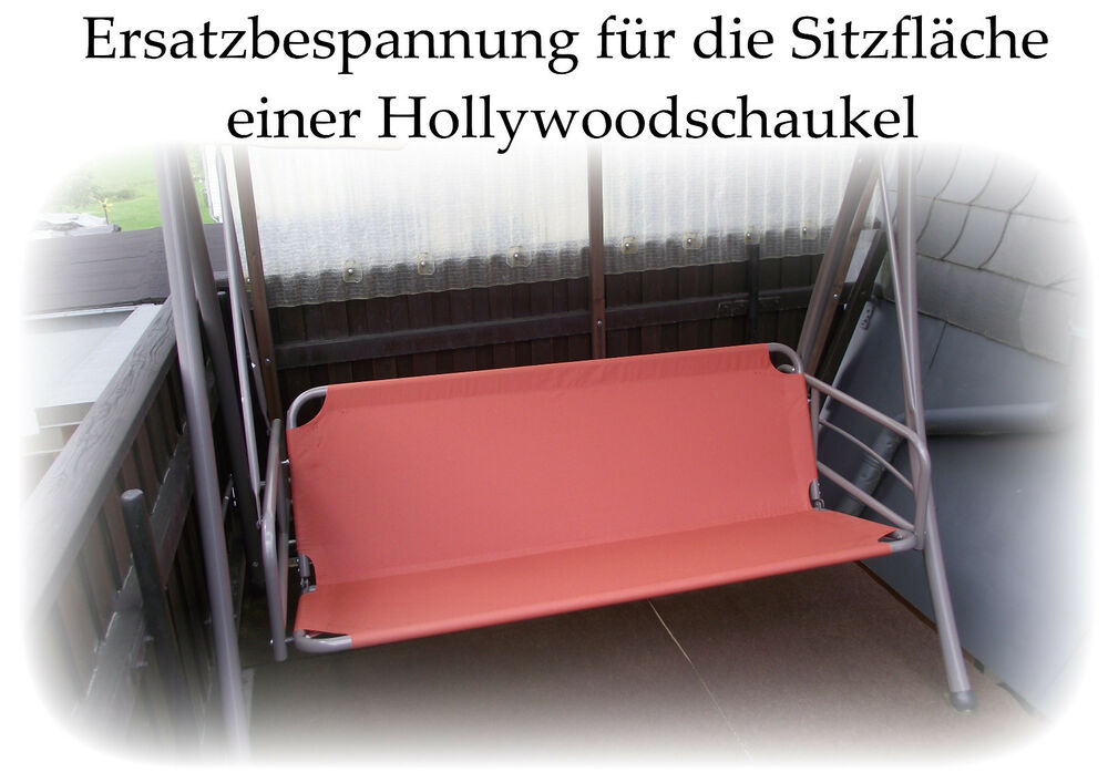 sitz und r cken ersatzbespannung f hollywoodschaukel ebay. Black Bedroom Furniture Sets. Home Design Ideas