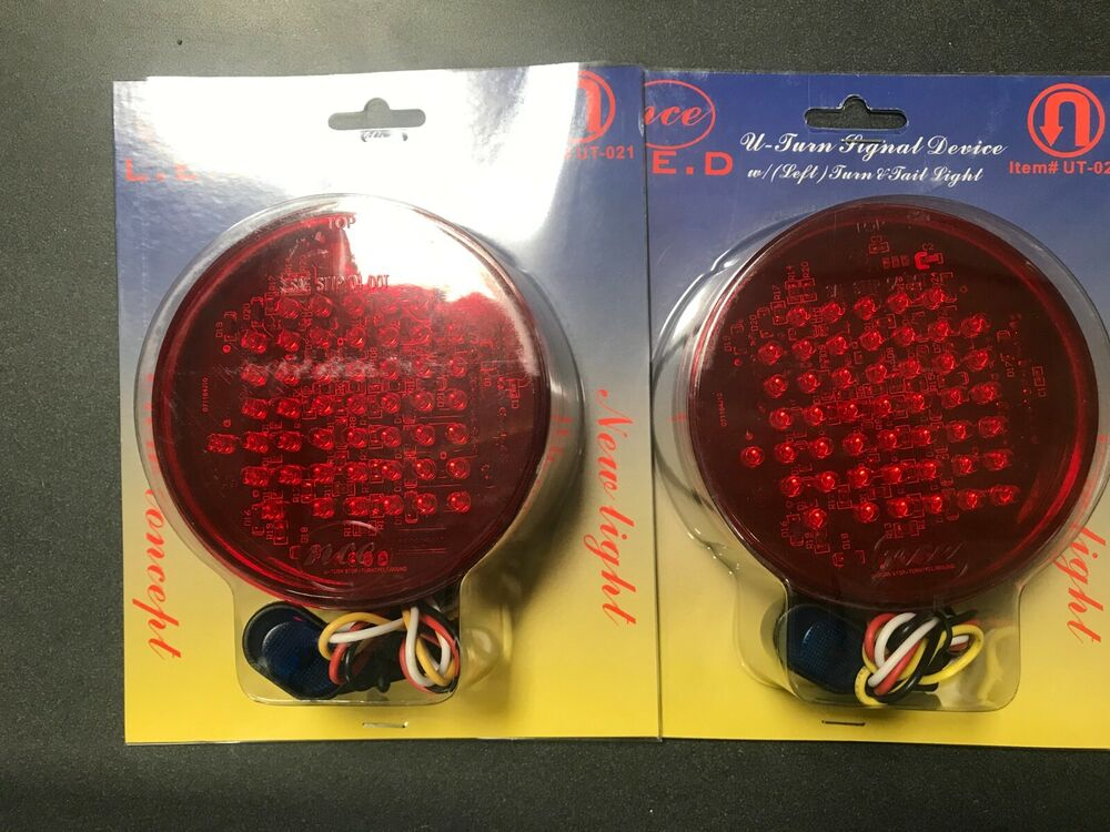 2  4 U0026quot  Led Truck Trailer Stop Turn Tail Lights   U