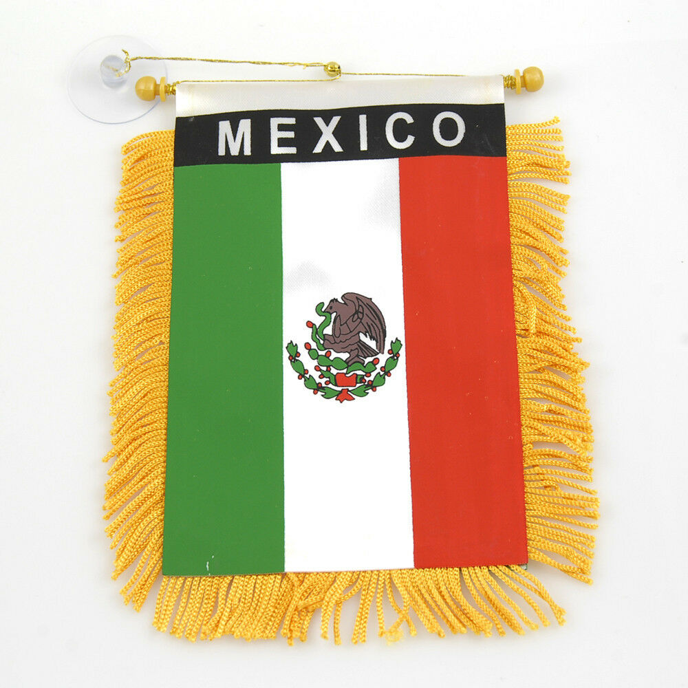 Quot Mexico Quot Flag Mini Banner Car Window Mirror Ebay