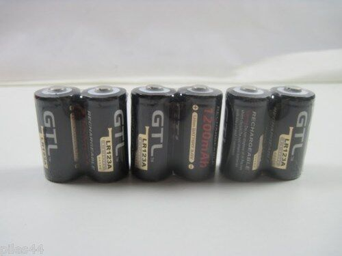 6 piles accus rechargeable cr123a lr123a 3v 1200mah gtl ebay. Black Bedroom Furniture Sets. Home Design Ideas