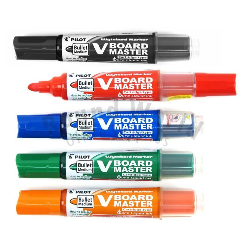 pilot wbma vbm m vboard master whiteboard refillable marker pen 5s color set ebay. Black Bedroom Furniture Sets. Home Design Ideas
