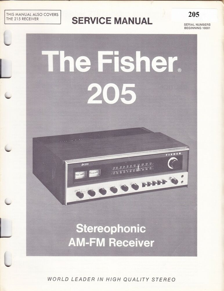 Fisher 500b owners Manual