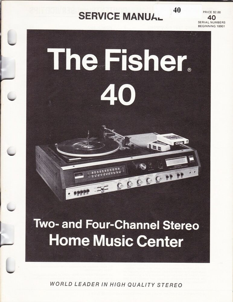fisher service manual for 40 home music center | ebay mc 25 wiring diagram