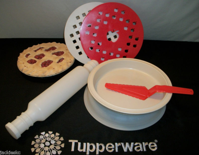 Tupperware ultra 21 quiche pie pan rolling pin server ebay for Quiche not setting