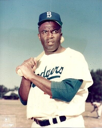 BROOKLYN DODGERS- JACKIE ROBINSON - VERO BEACH CLOSE UP