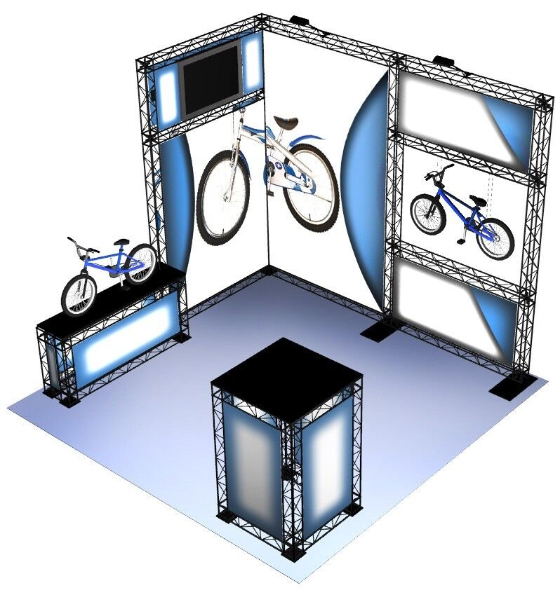 Portable Exhibition Booth : Crosswire portable exhibit booth display graphic ebay