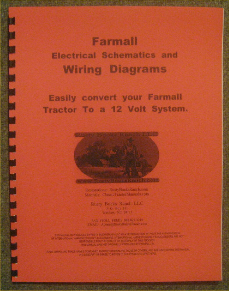 FARMALL 12 Volt conversion Wiring Diagrams - Schematics A B H M Super H  Super M | eBay