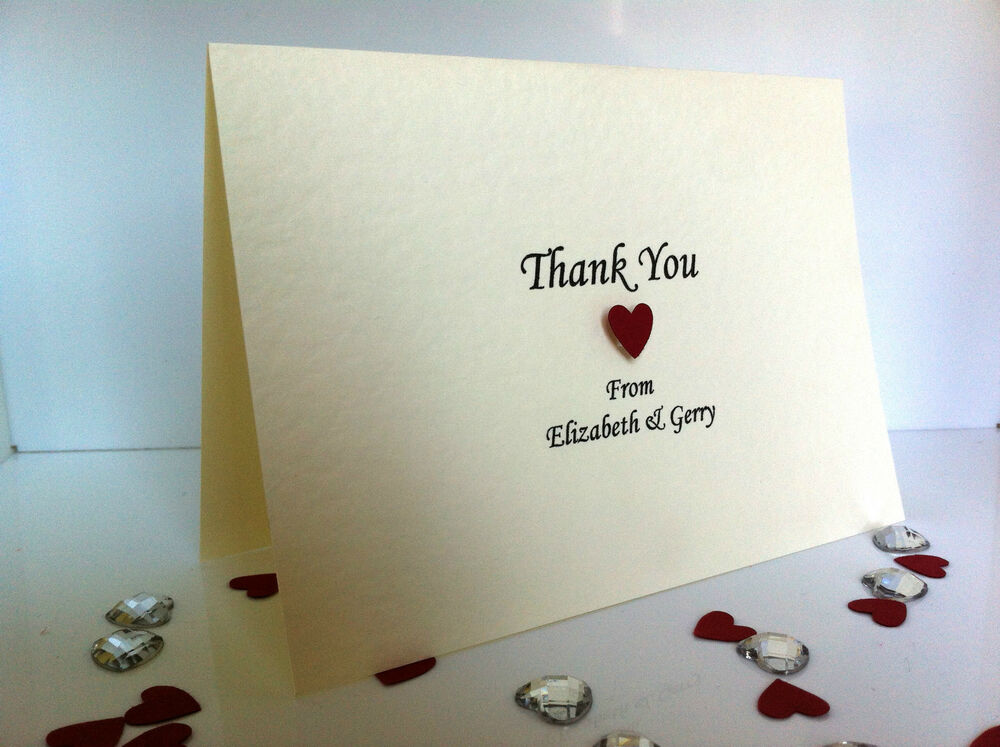Handmade Thank You Wedding Gifts : 50 Personalised Handmade Wedding Thank You Cards eBay