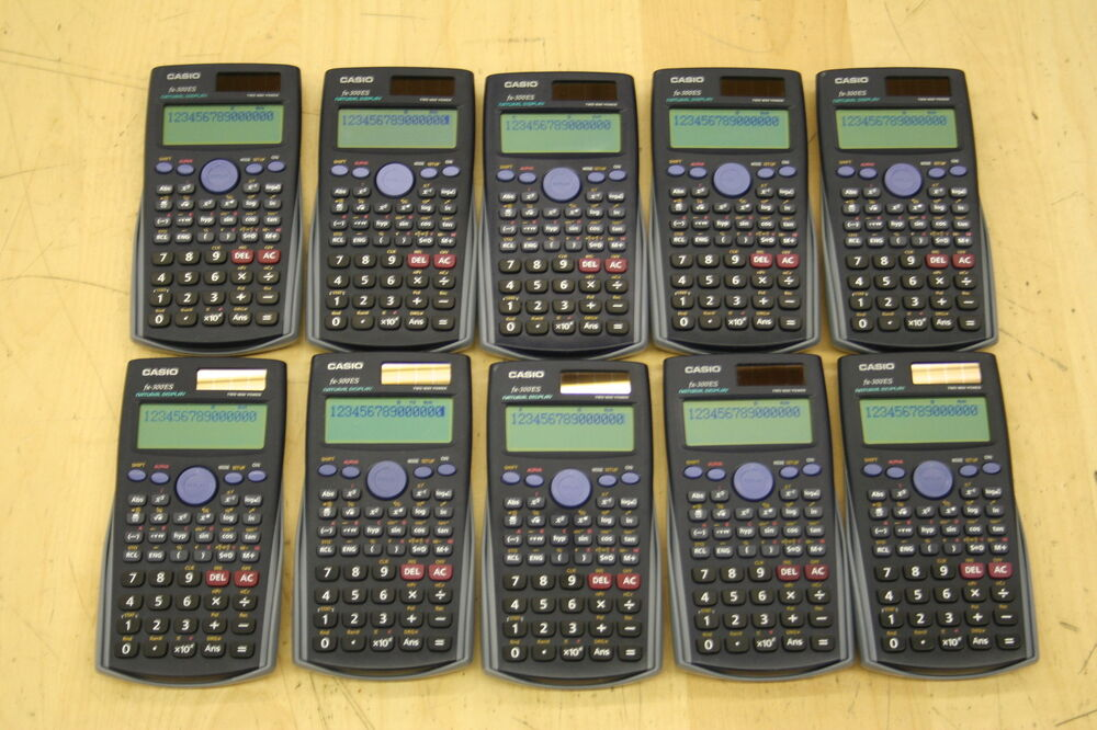 Casio Scientific Calculator Fx Gray Cover 10 Pcs
