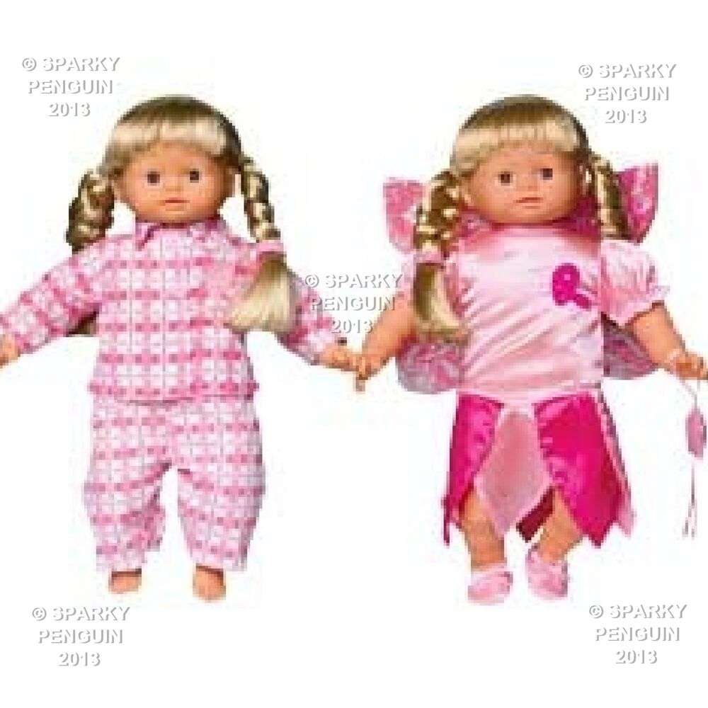 My Little Baby Born Fairy Amp Pyjama Twin Pack Dolls Clothes