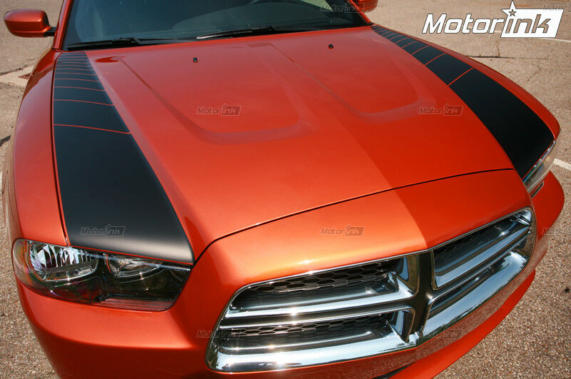 2011 2014 Dodge Charger Strobe Accent Side Hood Blackout