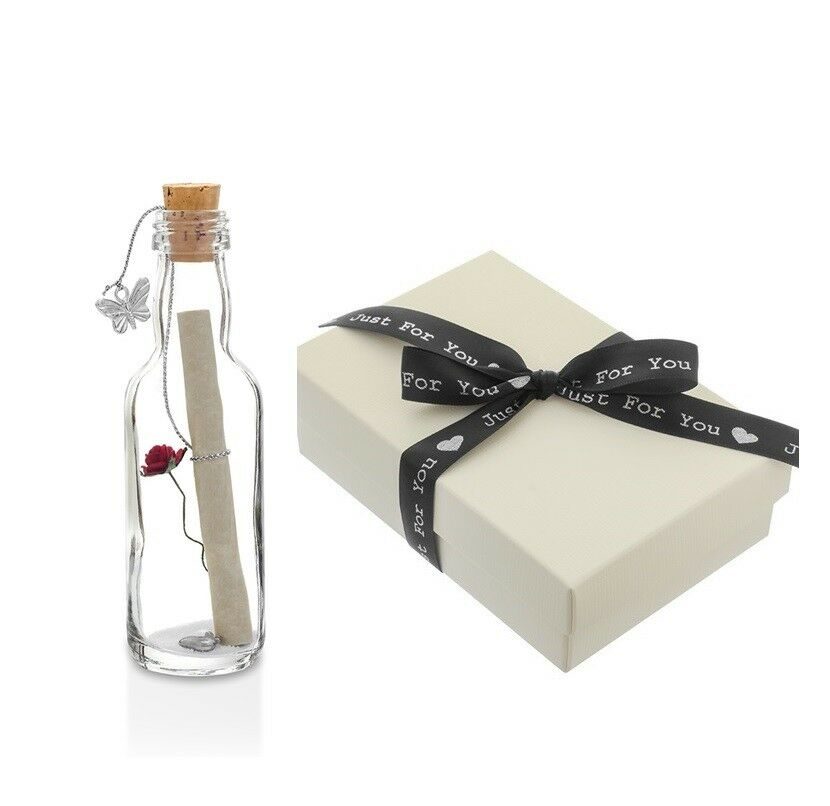 Wedding Gift Message For Wife : Wedding Anniversary Gift Personalised Message in a Bottle with Gift ...