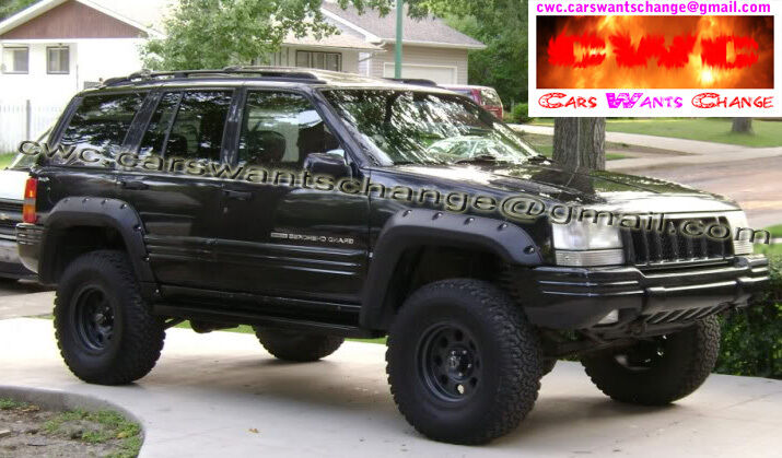 jeep grand cherokee zj 1992 1998 fender flares wheel arch extensions ebay. Black Bedroom Furniture Sets. Home Design Ideas