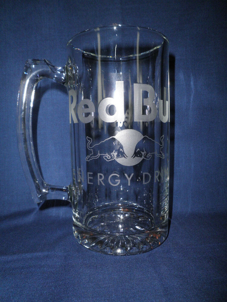 red bull beer stein huge 27oz glass ebay. Black Bedroom Furniture Sets. Home Design Ideas