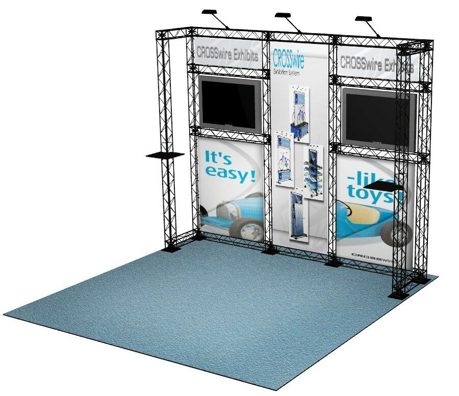 Portable Exhibition Display : Crosswire portable banner stand exhibit booth