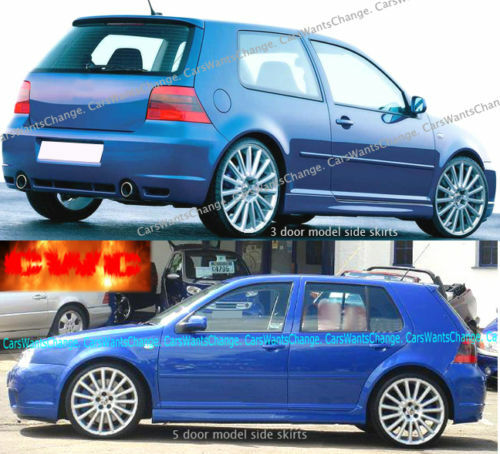 vw golf mk4 mk iv 4 r32 side skirts 3 5 door. Black Bedroom Furniture Sets. Home Design Ideas
