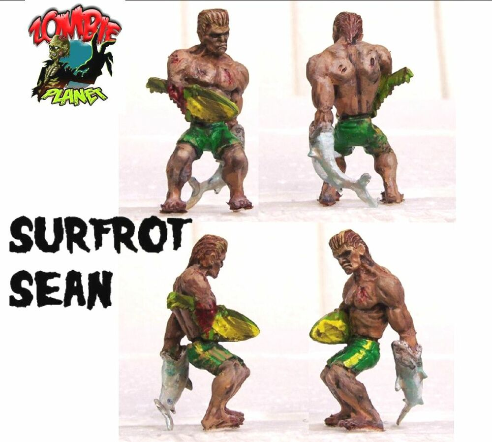 """Avatar 2 Toys Ebay: ZOMBIE PLANET Surf Rot Sean Surfer Dude 2"""" Toy Figure"""