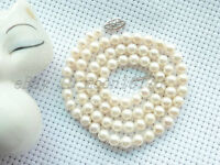 """18"""" AAA++ GRADE 5MM WHITE AKOYA PEARL NECKLACE 14K"""