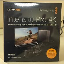 BlackMagic Design BINTSPRO4K Intensity Pro Card 4K PCIe Free USA Ship INT Ok