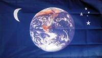 EARTH MOON AND STARS FLAG 5X3 sky astronomy peace space FLAGS FREE POSTAGE