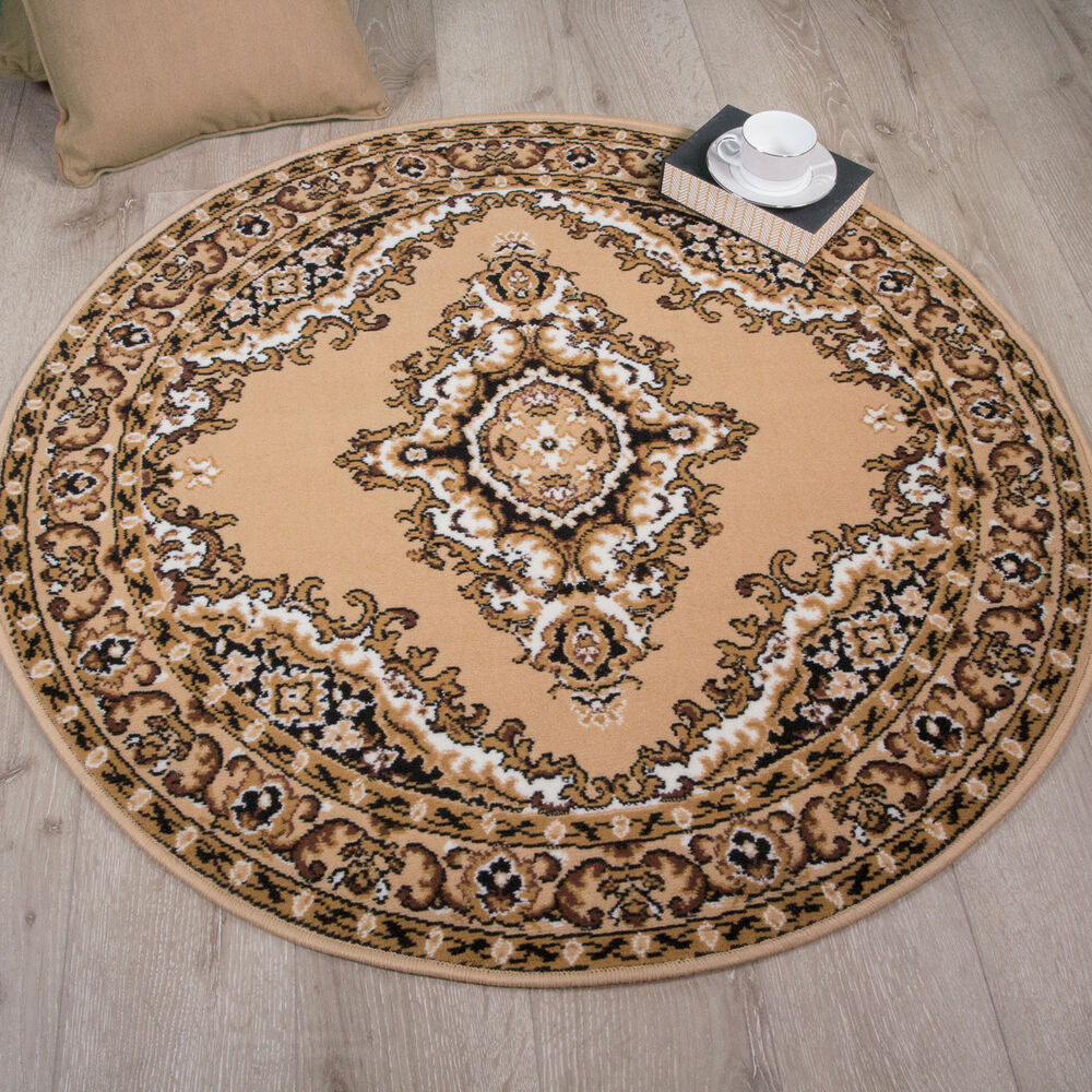 Beige brown oriental style traditional rug small large xxl - Small living room rug ...