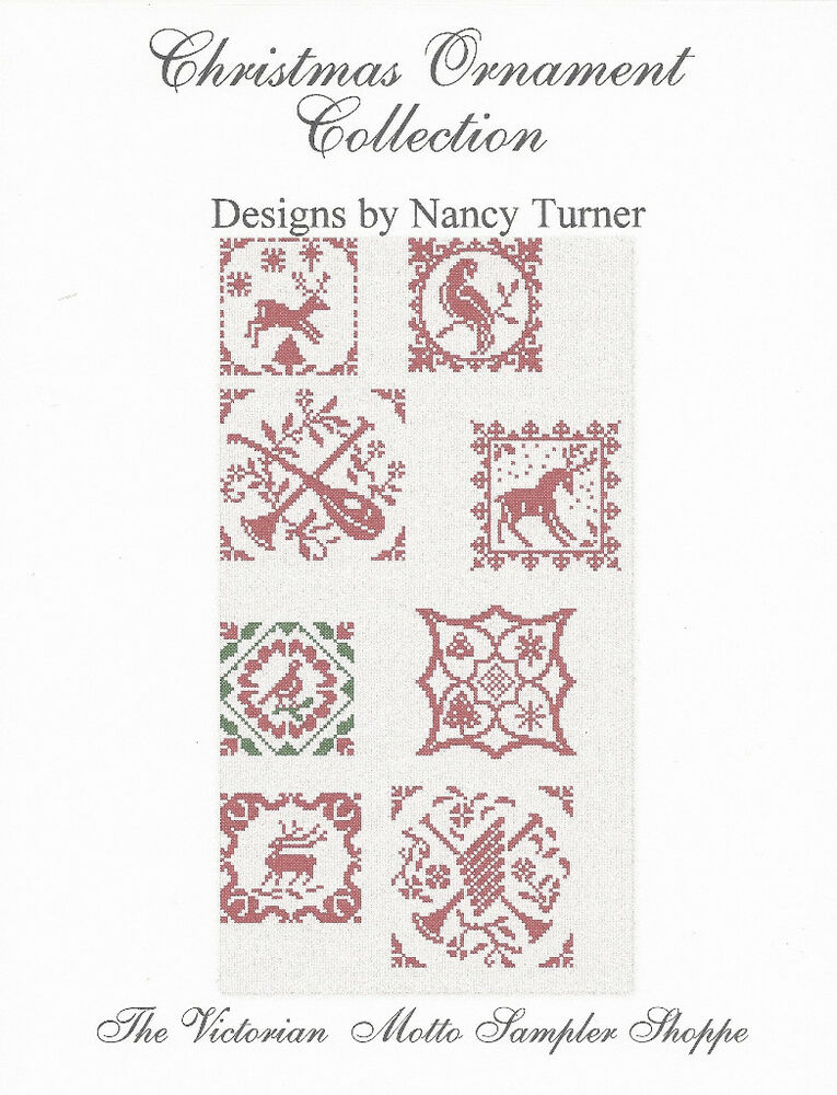 Christmas Ornament Assortment (8) patterns, counted cross ...