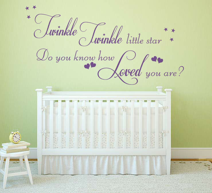 Twinkle Twinkle Little Star Childrens Wall Art Sticker Kids Bedroom Nursery Ebay