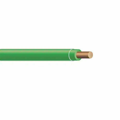 Solid Copper Wire : Gauge awg solid green thhn copper wire thwn
