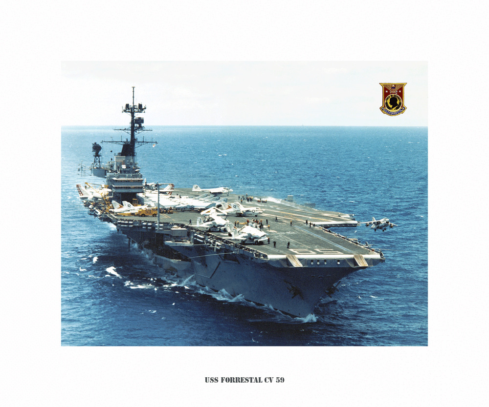 uss forrestal cv 59 naval ship photo print usn navy ebay