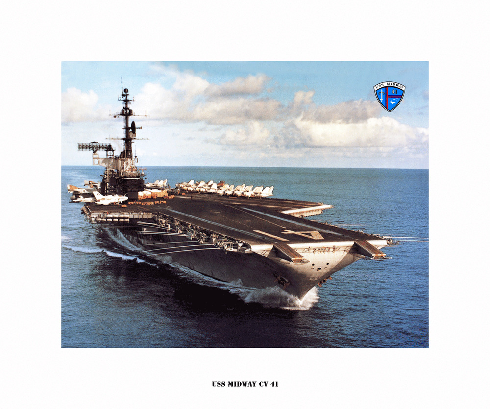 uss midway cv 41 naval ship photo print usn navy ebay
