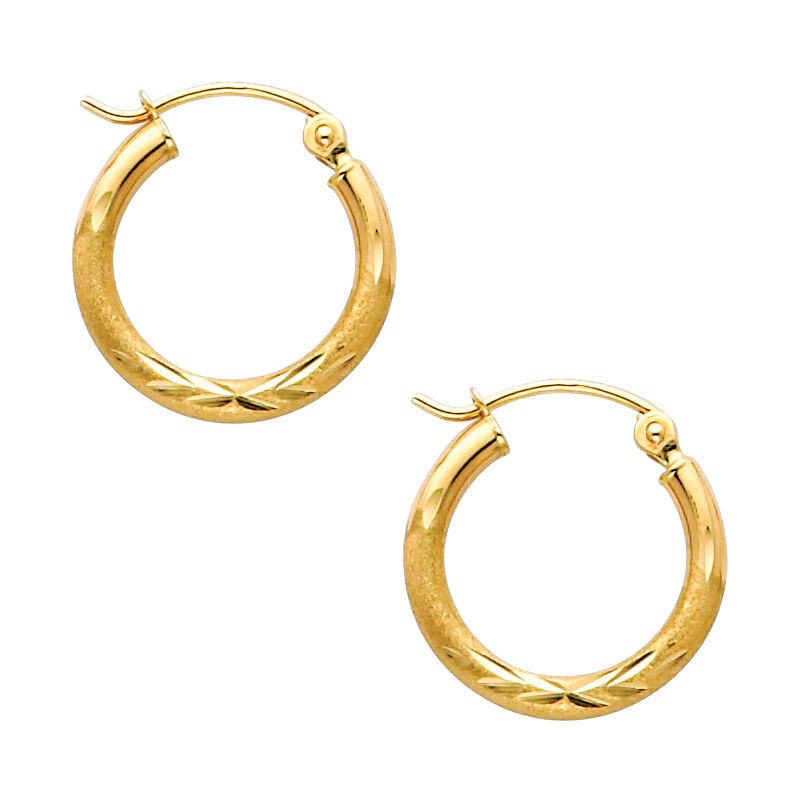 14k yellow gold endless hoop earrings 2mm all 14k yellow gold 2mm thick cut satin polished hoop