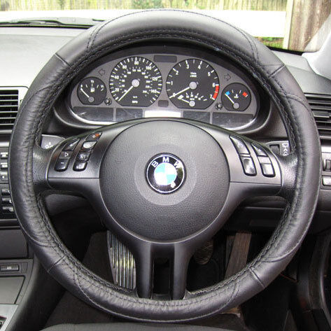 leather steering wheel cover bmw 3 5 series e36 e46 e90 m3. Black Bedroom Furniture Sets. Home Design Ideas